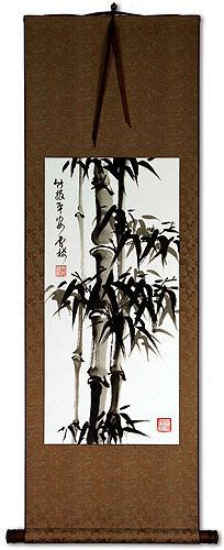 Safe and Sound Bamboo Wall Scroll